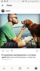 Alex with dog.