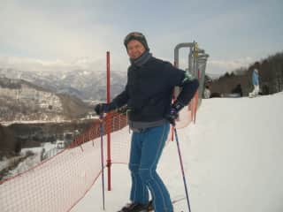 Giovanni at Hakuba, Japan - his favourite ski field