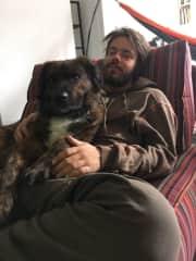 Sebas and his dog