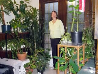 I am a green thumb and can look after your plants too.