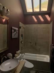 Your bathroom with heated tub and toilet