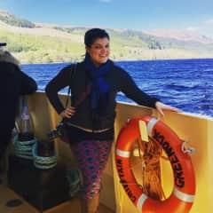 Traveling, on Loch Ness in Scotland. 2017.
