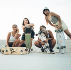 These are a few of my good friends from another LA based girl skate group, called Girl Swirl!