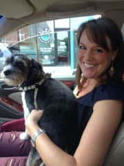 Daisy and me! Friend's dog that I've often cared for