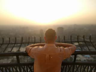 Watching the sunset from the Cairo Tower in Cairo, Egypt