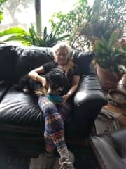 Micki and the rescue Dachshund mix Hachi