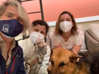 Ninja, Rinka & their owners, Lima, Peru