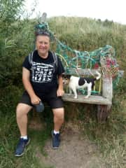 Dave and Esme. We all love to walk. We normally pack a picnic and are out all day !!