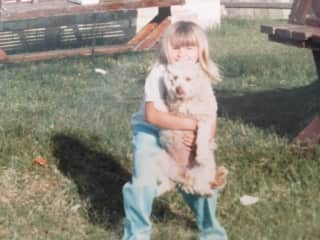 My dog Coco (we were the same age, and so grew up together)