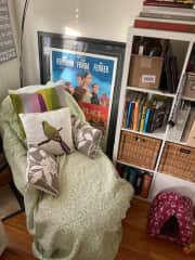 My comfy reading nook/lady lounger
