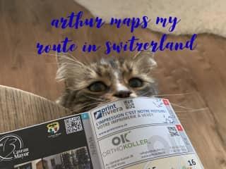 Arthur gives routing input - Corseaux, Switzerland - 2019