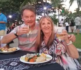 Gary and I enjoying Fiji