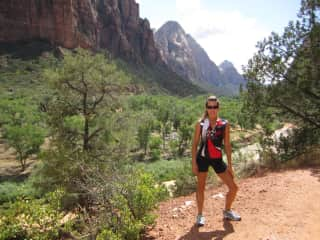 My triathlete days, hiking and jogging at Zion National Park, Utah (5 years ago, I'm not a triathlete anymore, though stay in shape)