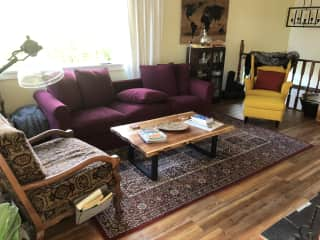 Bright sunny living room