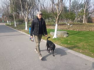 Walking Sweetie in Wuxi, China