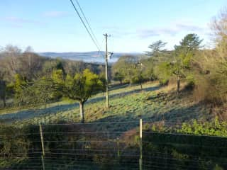 The view towards the Black Mountains