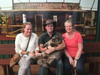 Me, Bubba and my mum (visiting from the UK)