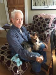 Ken with his friend Zeus, who belongs to a friend in NC.