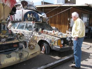 Jack found two passions combined -installation art and cars in central Nevada.