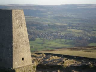 View to Bamford from Win Hill