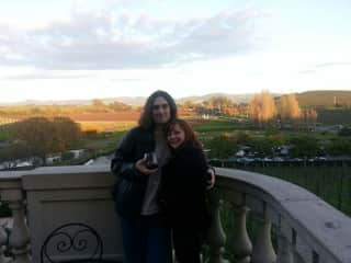 Michael and Cassandra's first trip together in Napa, California, winter 2012
