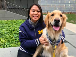University of Michigan Gameday with Sky (friend's puppy)!
