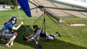 My first hang gliding experience in GA 2018 at a house sit that I do every year