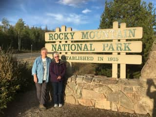 Sherry and Sue enjoying the location of a recent pet-sit!
