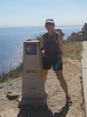 Walked the Camino in 2018 - this is the 0.00 waymarker at the end of the 800km trek!!