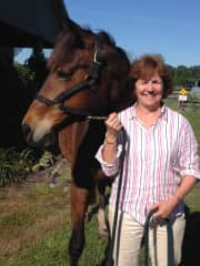 My horse Fannie and me