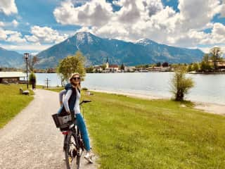 That is me at Lake Tegernsee visiting my parents. I love biking and hiking and being in nature
