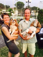 Us with Iona and Oliver in Kinshasa