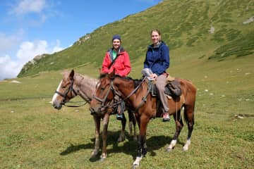 In Kyrgyzstan we went on a 4 days horse trek, something completely new for us, but we enjoyed it a lot!