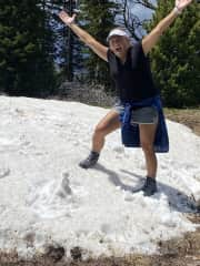 Montana doesn't disappoint when you can find snow in July!
