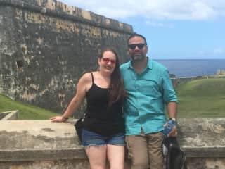 El Morro, Old San Juan - Mark and Jeannie