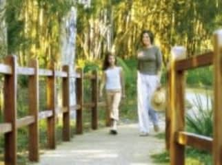 Walking trails in the estate