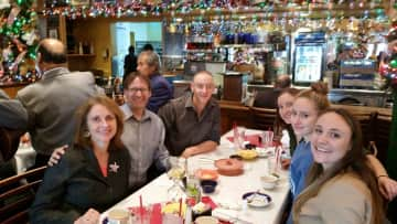 The family visiting San Antonio, TX.