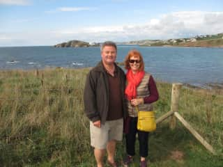 In Devon, 21 years after we married on the island behind us!