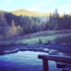 Hot Springs in Oregon (Breitenbush)