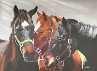I also paint horses