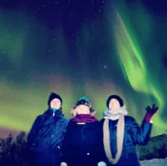 Thoroughly enjoying the Norther Lights in Tromsø, Norway