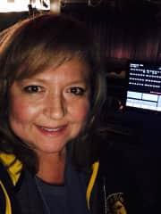 Janice running lights for Gulfport Little Theatre