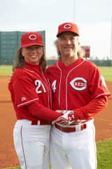 Marilynne and Alan at the Cincinnati Reds Fantasy Baseball Camp