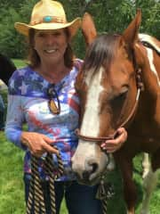 Kerry and Lucy, my last horse..she now is retired as a therapy horse