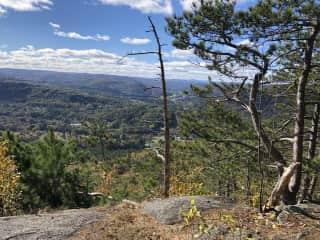 View over Shelburne Falls, wonderful hike