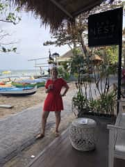 Having a cool Non alcoholic drink (I don't drink alcohol ) bali