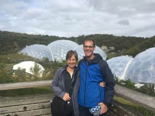 Barbara and Eric at the Eden Centre in the UK
