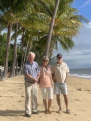 My dear old dad and my oldest brother. North of Cairns.