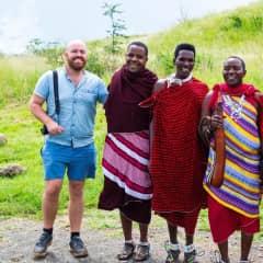 Chris helping promote Africa Amini Maasai Lodge