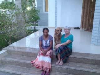 Bernie with Boola and friend in Oman 2017